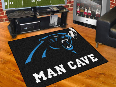 "NFL Officially licensed products Carolina Panthers Man Cave All-Star Mat 33.75""x42.5"" Celebrate your fandom with a Man Cave"