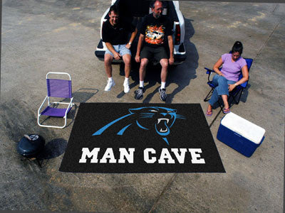 NFL Officially licensed products Carolina Panthers Man Cave UltiMat 5'x8' Rug Celebrate your fandom with a Man Cave mat from