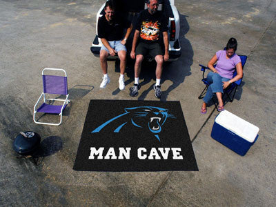 NFL Officially licensed products Carolina Panthers Man Cave Tailgater Rug 5'x6' Celebrate your fandom with a Man Cave mat fr