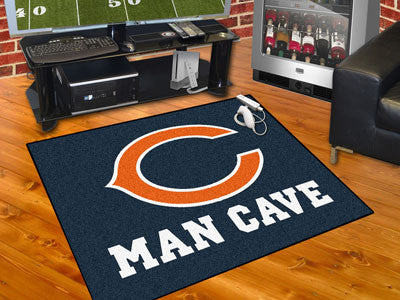 "NFL Officially licensed products Chicago Bears Man Cave All-Star Mat 33.75""x42.5"" Celebrate your fandom with a Man Cave mat"