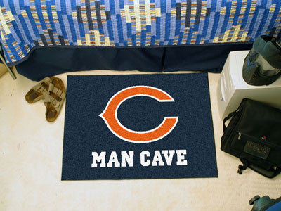 "NFL Officially licensed products Chicago Bears Man Cave Starter Rug 19""x30"" Celebrate your fandom with a Man Cave mat from S"
