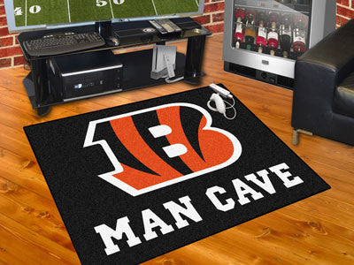 "NFL Officially licensed products Cincinnati Bengals Man Cave All-Star Mat 33.75""x42.5"" Celebrate your fandom with a Man Cave"