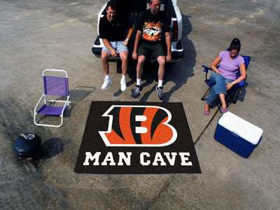 NFL Officially licensed products Cincinnati Bengals Man Cave Tailgater Rug 5'x6' Celebrate your fandom with a Man Cave mat f