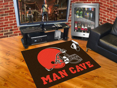 "NFL Officially licensed products Cleveland Browns Man Cave All-Star Mat 33.75""x42.5"" Celebrate your fandom with a Man Cave m"