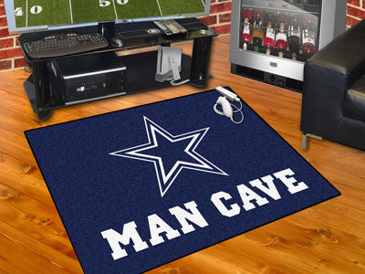 "NFL Officially licensed products Dallas Cowboys Man Cave All-Star Mat 33.75""x42.5"" Celebrate your fandom with a Man Cave mat"