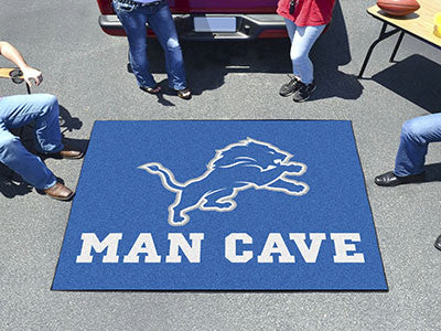 NFL Officially licensed products Detroit Lions Man Cave Tailgater Rug 5'x6' Celebrate your fandom with a Man Cave mat from S