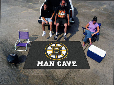 NHL Officially licensed products Boston Bruins Man Cave UltiMat 5'x8' Rug Celebrate your fandom with a Man Cave mat from Spo