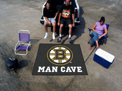 NHL Officially licensed products Boston Bruins Man Cave Tailgater Rug 5'x6' Celebrate your fandom with a Man Cave mat from S