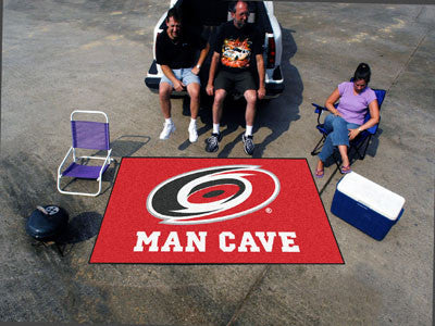 NHL Officially licensed products Carolina Hurricanes Man Cave UltiMat 5'x8' Rug Celebrate your fandom with a Man Cave mat fr