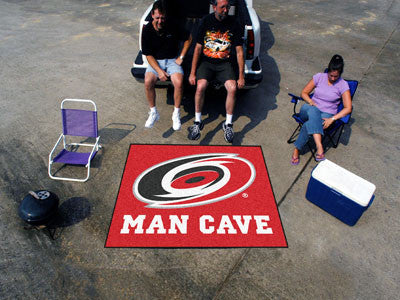 NHL Officially licensed products Carolina Hurricanes Man Cave Tailgater Rug 5'x6' Celebrate your fandom with a Man Cave mat