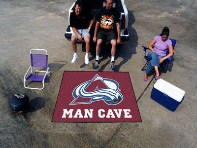 NHL Officially licensed products Colorado Avalanche Man Cave Tailgater Rug 5'x6' Celebrate your fandom with a Man Cave mat f