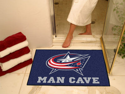 "NHL Officially licensed products Columbus Blue Jackets Man Cave All-Star Mat 33.75""x42.5"" Celebrate your fandom with a Man C"
