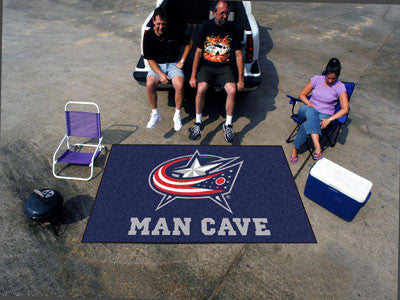 NHL Officially licensed products Columbus Blue Jackets Man Cave UltiMat 5'x8' Rug Celebrate your fandom with a Man Cave mat