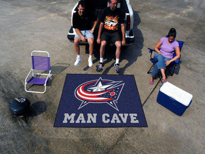 NHL Officially licensed products Columbus Blue Jackets Man Cave Tailgater Rug 5'x6' Celebrate your fandom with a Man Cave ma