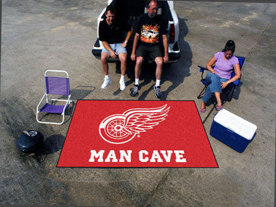 NHL Officially licensed products Detroit Red Wings Man Cave UltiMat 5'x8' Rug Celebrate your fandom with a Man Cave mat from