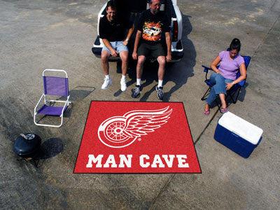NHL Officially licensed products Detroit Red Wings Man Cave Tailgater Rug 5'x6' Celebrate your fandom with a Man Cave mat fr