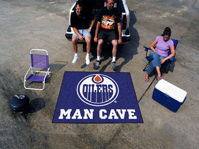 NHL Officially licensed products Edmonton Oilers Man Cave Tailgater Rug 5'x6' Celebrate your fandom with a Man Cave mat from