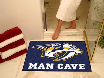 "NHL Officially licensed products Nashville Predators Man Cave All-Star Mat 33.75""x42.5"" Celebrate your fandom with a Man Cav"