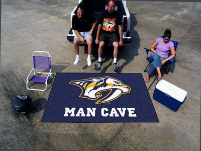 NHL Officially licensed products Nashville Predators Man Cave UltiMat 5'x8' Rug Celebrate your fandom with a Man Cave mat fr