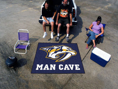 NHL Officially licensed products Nashville Predators Man Cave Tailgater Rug 5'x6' Celebrate your fandom with a Man Cave mat