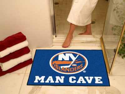 "NHL Officially licensed products New York Islanders Man Cave All-Star Mat 33.75""x42.5"" Celebrate your fandom with a Man Cave"
