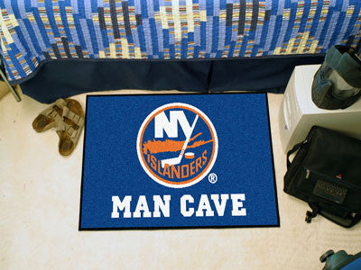 "NHL Officially licensed products New York Islanders Man Cave Starter Rug 19""x30"" Celebrate your fandom with a Man Cave mat f"
