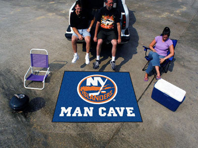NHL Officially licensed products New York Islanders Man Cave Tailgater Rug 5'x6' Celebrate your fandom with a Man Cave mat f