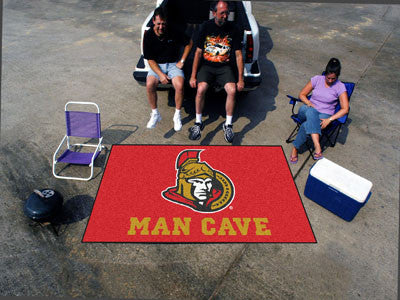 NHL Officially licensed products Ottawa Senators Man Cave UltiMat 5'x8' Rug Celebrate your fandom with a Man Cave mat from S