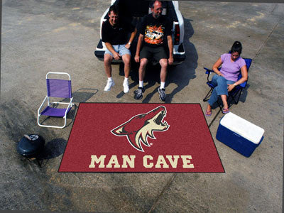 NHL Officially licensed products Arizona Coyotes Man Cave UltiMat 5'x8' Rug Celebrate your fandom with a Man Cave mat from S