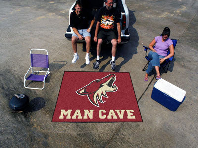 NHL Officially licensed products Arizona Coyotes Man Cave Tailgater Rug 5'x6' Celebrate your fandom with a Man Cave mat from