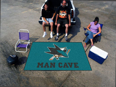 NHL Officially licensed products San Jose Sharks Man Cave UltiMat 5'x8' Rug Celebrate your fandom with a Man Cave mat from S