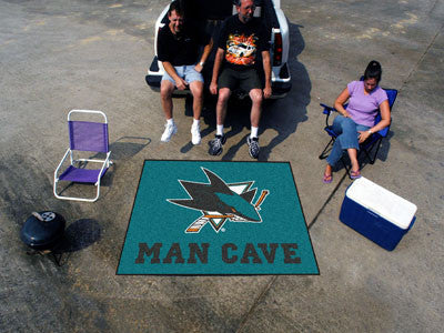 NHL Officially licensed products San Jose Sharks Man Cave Tailgater Rug 5'x6' Celebrate your fandom with a Man Cave mat from
