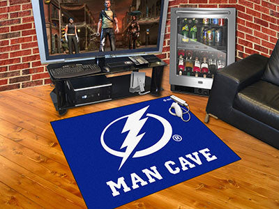 "NHL Officially licensed products Tampa Bay Lightning Man Cave All-Star Mat 33.75""x42.5"" Celebrate your fandom with a Man Cav"