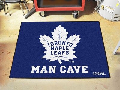 "NHL Officially licensed products Toronto Maple Leafs Man Cave All-Star Mat 33.75""x42.5"" Celebrate your fandom with a Man Cav"