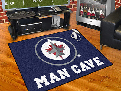 "NHL Officially licensed products Winnipeg Jets Man Cave All-Star Mat 33.75""x42.5"" Celebrate your fandom with a Man Cave mat"