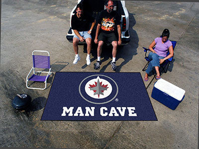 NHL Officially licensed products Winnipeg Jets Man Cave UltiMat 5'x8' Rug Celebrate your fandom with a Man Cave mat from Spo