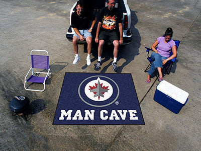 NHL Officially licensed products Winnipeg Jets Man Cave Tailgater Rug 5'x6' Celebrate your fandom with a Man Cave mat from S