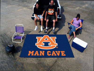 "NCAA Officially licensed Auburn University Man Cave UltiMat 59.5""x94.5"" Celebrate your fandom with a Man Cave mat from Sport"