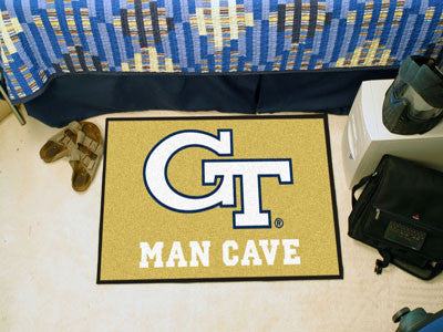 "NCAA Officially licensed Georgia Tech Man Cave Starter 19""x30"" Celebrate your fandom with a Man Cave mat from Sports Licensi"