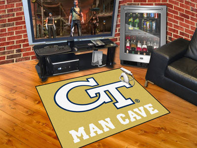 "NCAA Officially licensed Georgia Tech Man Cave All-Star 33.75""x42.5"" Celebrate your fandom with a Man Cave mat from Sports L"