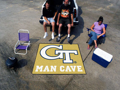 "NCAA Officially licensed Georgia Tech Man Cave Tailgater 59.5""x71"" Celebrate your fandom with a Man Cave mat from Sports Lic"