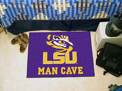 "NCAA Officially licensed Louisiana State University Man Cave Starter 19""x30"" Celebrate your fandom with a Man Cave mat from"