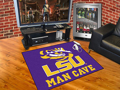 "NCAA Officially licensed Louisiana State University Man Cave All-Star 33.75""x42.5"" Celebrate your fandom with a Man Cave mat"
