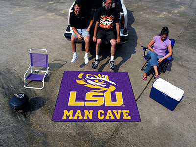 "NCAA Officially licensed Louisiana State University Man Cave Tailgater 59.5""x71"" Celebrate your fandom with a Man Cave mat f"