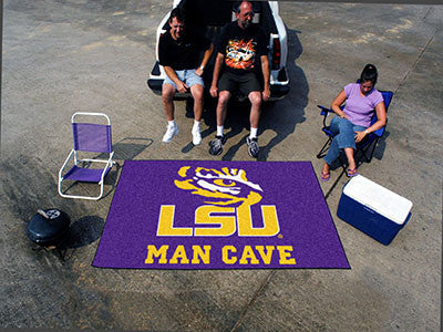 "NCAA Officially licensed Louisiana State University Man Cave UltiMat 59.5""x94.5"" Celebrate your fandom with a Man Cave mat f"