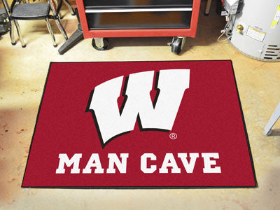 "NCAA Officially licensed University of Wisconsin Man Cave All-Star 33.75""x42.5"" Celebrate your fandom with a Man Cave mat fr"