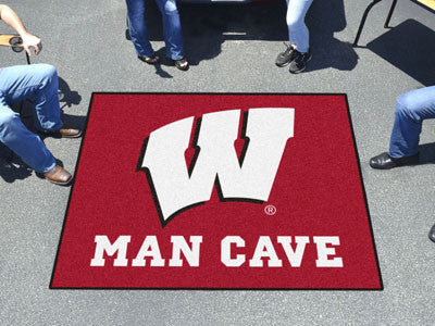 "NCAA Officially licensed University of Wisconsin Man Cave Tailgater 59.5""x71"" Celebrate your fandom with a Man Cave mat from"