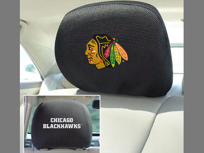 "NHL Officially licensed products Chicago Blackhawks Head Rest Cover 10""x13"" Show off your team pride and protect your vehicl"
