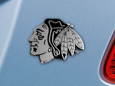 "NHL Officially licensed products Chicago Blackhawks Emblem 2.7""x3.2""  Are you an extreme sports fan who wants to show off yo"