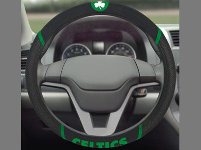 "NBA Officially licensed products Boston Celtics Steering Wheel Cover 15""x15"" Show off your team pride and transform your car"